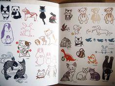 little japanese booklet-stamp designs for carving, via Flickr.