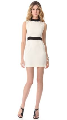 LRK Contrast Mini Dress black and white