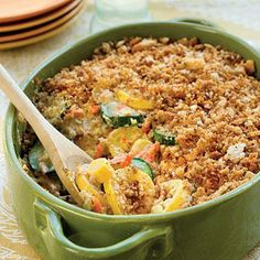Summer squash casserole is the most versatile Southern side dish. #SLSummerRecipes