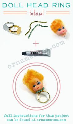 Doll head ring...I think this is a good gift...