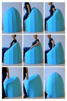 Veronique Baer's Bounce chair. taking memory foam to a whole new level!