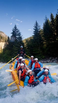 Whitewater Rafting on the Kicking Horse River, Golden, BC, Canada