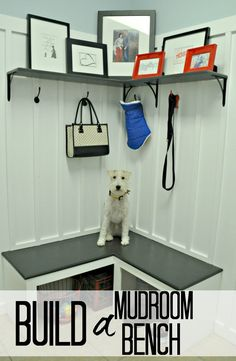 How to build a mudroom bench.  Great tutorial!