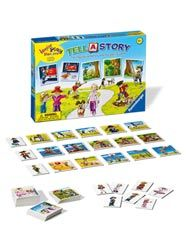 A game that can help with literacy skills through telling a narrative story by finding the parts of the story.