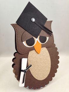 graduation cards diy, handmade graduation card, card idea, graduat card, craft, owl card, stampin up graduation card, stampin up owl graduation card, owls