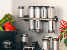 Spices are important to Indian cooking and more important is the way we store them. If not stored correctly, they can lose their smell, flavor and color. Handy as hell, this Magnetic Spice Rack is perfecto!