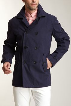 Ben Sherman Long Sleeve Double Breasted Jacket