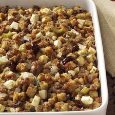 Sage Sausage Dressing Recipe from Taste of Home -- shared by Denise Hruz of Germantown, Wisconsin