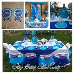 FROZEN PARTY Frozen Centerpiece Frozen cups by itsybitsyitsparty, $28.00