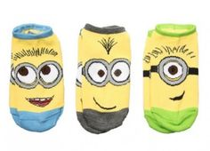 rachelwoah's save of Despicable Me 2 Minions Full Face Youth No Show Socks - 3 Pack:Amazon:Clothing on Wanelo