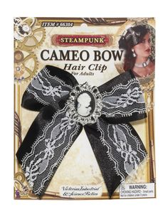 Steampunk cameo Bow