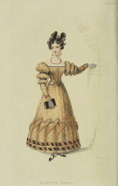 Morning dress, 1828 UK, Ackermann's Repository