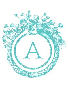 Get your own monogram for printables -free!