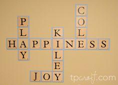 TPcraft.com: Playroom Scrabble Wall