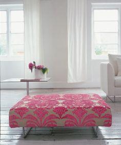 pink ottoman