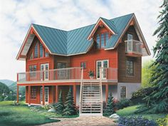 This Rustic Cabin Style Home Has Great Windows For Surrounding Views