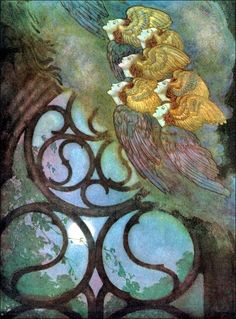 Art by Edmund Dulac (1912 / 1921) from THE POETICAL WORKS OF EDGAR ALLAN POE.