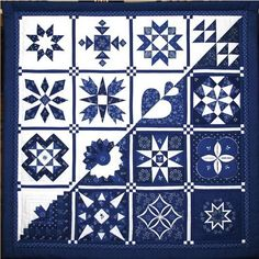 hungarian blue and white quilt!