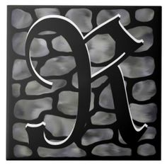 "Edit the Monogram ""Grey Stone Stained Glass"" Pattern Ceramic Tile. Easily edit the Monogram. Add a wooden frame and use as a trivet. Add a black lacquer wooden box in 5"" and 7"" square sizes to make a lovely complement and gift in the $30 range.  http://www.zazzle.com/monogram_grey_stone_stained_glass_ceramic_tile-227735054100149968?rf=238301468915483943 #Wedding #Monograms #Tiles #GreyStone #DecorativeBoxes #HomeDecor #MonogramTiles"