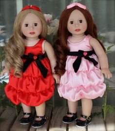 Valentine Sweetheart Dress Outfits for American Girl Dolls are at www.harmonyclubdolls.com