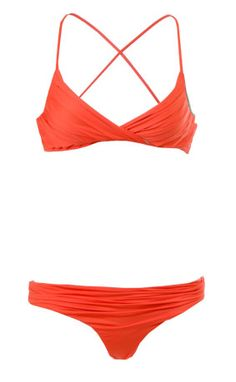 Tallows Pleated Bikini Poppy. I like the top! Looks like it would be great support and different from your everyday bikini top!!