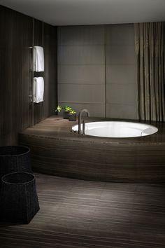 ♂ Dark masculine and minimalist interior #bathroom design #sydney