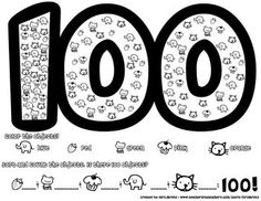 This is a worksheet that students can do on the 100th day of school. Or when they are learning to count to 100. Students first color the cute clipa...