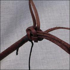 The Terminal Knot - Leather Braiding by John   . . . .   ღTrish W ~ http://www.pinterest.com/trishw/  . . . .   #handmade #jewelry