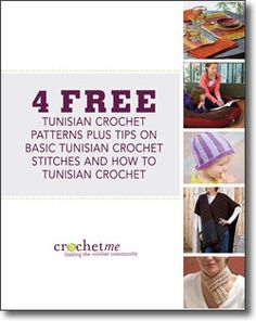 4 free Tunisian crochet patterns eBook!