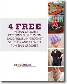 4 free Tunisian crochet patterns eBook!