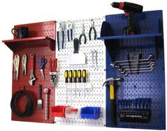 Patriot Pegboard Organizer American Made 4ft Metal Pegboard Tool Storage Kit by Wall Control - Made in the USA by Wall Control, http://www.amazon.com/dp/B00CMVJ4NO/ref=cm_sw_r_pi_dp_EFKIrb0PRC4S7