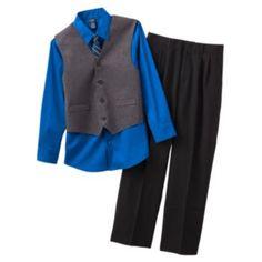 Arrow Herringbone Vest Set - Boys 8-14