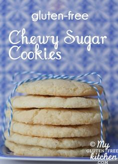 Chewy Sugar Cookies {Gluten-free}