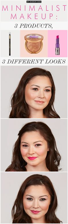 Maquillaje - Makeup - How to get 3 different looks from only 3 products
