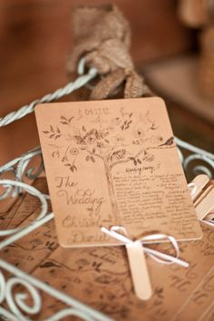 Love these rustic-looking fan/programs! Photography by cmcdadephotography.com