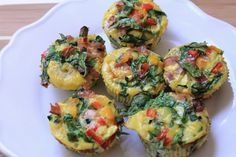 The Advocare Cleanse approved healthy egg muffins. I added mushrooms and a sun-dried tomato. Yummy! Oh, and I didn't put bacon in them.