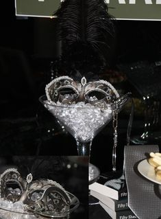 Fifty Shades of Grey Party | Bachelorette | Centerpiece | Mask | Grey Tie | Handcuffs