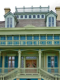 Front facade of the San Francisco Plantation in Garyville, Louisiana