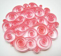 Quilled floral bouquet./ Técnica de filigrana en papel.