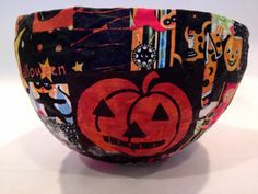 paper mache and fabric bowls, pt 2