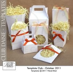 Paper Craft Templates - Popcorn Boxes, Gable Treat Boxes, Party Favor boxes, cookie and treat pouches -   Free Printables, Free Graphics, Free Kits, Free Digital Clip Art, Graphics and Backgrounds for Scrapbooking, Gina Jane Designs - DAISIE Company