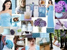 Another blue and lavender wedding board.