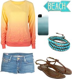 """""""California Beach Outfit"""" by natihasi on Polyvore"""
