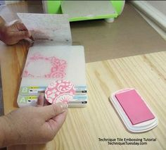 """DIY: embossed accent tutorial for cards, scrapbooks, home decor, and more! """"I want to try this""""-C"""