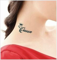 Glorious Crown Tattoo Designs: The Unique Crown Tattoo Designs And Meaning For Girl On Neck ~ tattooeve.com Tattoo Design Inspiration