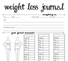 Diet Journal on Pinterest | Weight Loss Journal, Fitness Journal and ...