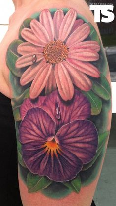Flowers Arm Tattoo