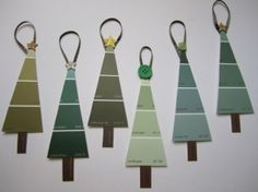 FREE!!! Kids can make these simple Christmas tree ornaments at little to no cost. Love it!