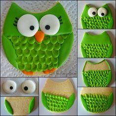 Owls in cookie tutorial