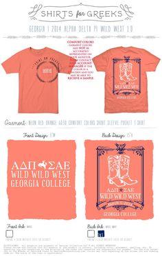 Wild Wild West social t-shirt.
